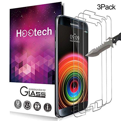 [3-Unidades] Protector de pantalla Galaxy S7, Hootech Cristal Vidrio Templado Premium Para...