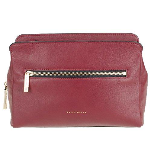 Coccinelle Borsa Pelle Vitello Liscio Blanche 15-01 Damentasche aus Leder 29x19x10cm (rot) (Vitello-leder Tote-tasche)