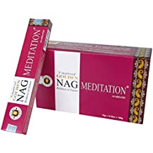 Laroom 13436 - Pack 12 cajas de incienso Golden Nag Meditation