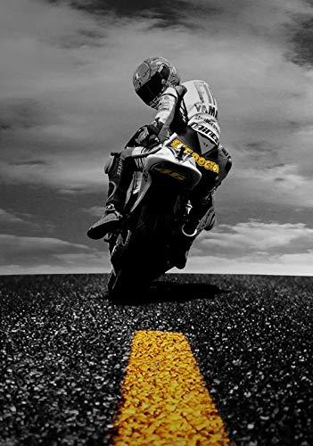 Desconocido Valentino Rossi Moto GP Racing Póster 11123 (A3-A4-A5) - A4