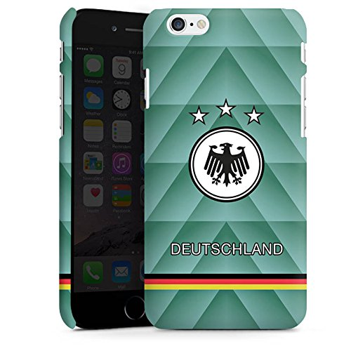 Apple iPhone X Silikon Hülle Case Schutzhülle Fussball Deutschland Vintage Premium Case matt