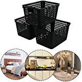 Begale Plastic CD Trays And Media Storage Bin For CD Shelf Storage And Organization, Set Of 3