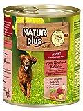 NATUR plus Hundefutter ADULT mit 70% Rind & Schinken - getreidefrei (6 x 800 g)