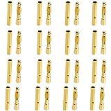 20 Pares 2mm Chapado En Oro Banana Enchufe Motor Conector Electrónico