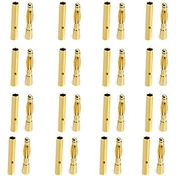 10 Paare Bananenstecker 3 3.5 mm Stecker Für ESC Brushless Diy Gold Neu 2018