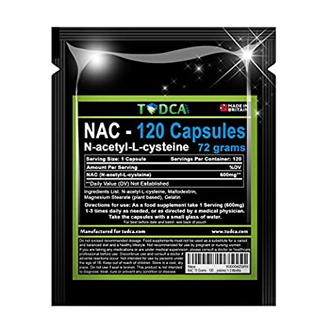 NAC 72 Grams - 120 Caps Liver Support (N-acetyl-L-cysteine) 1-3 Months