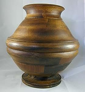 38° Parallelo Creations - Vaso in legno d'acacia cm. 30 Mod. Galileo - lavorazione artigianale - MA619