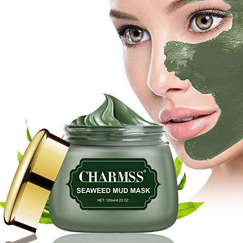 Charmss Algenmaske, Schlammmaske aus dem Toten Meer, Mitesser-Maske, Tiefenreinigungsmaske, Anti-Aging-Gesichtsbehandlung für alle Hauttypen, verjüngtes und feuchtigkeitsspendendes Gesicht und Körper. -