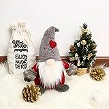 Blanchel - Gnomo in peluche a forma di cappello di Natale svedese, fatto a mano, Babbo Natale, cancelleria, decorazione per la casa A2