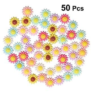 Margarita artificial SUPVOX cabezas de flores gerbera para boda de bricolaje a mano 50 (color surtido)