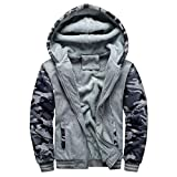 Yvelands Herren Kapuzenpullover Strickjacke Winter Warm Fleece Zipper Sweater Jacke Outwear Mantel Tops Blusen (EU-54/L3,DunkelGrau)