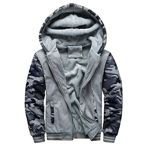 HUIHUI Winterjacke Herren Winter Mantel kurz Jacket Plus Size (Dunkelgrau,XXXL) - Size Plus Herren-winter-mäntel