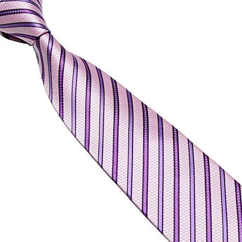 Corbata LILA a Rayas