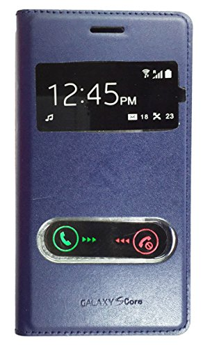 Sun Mobisys™; Samsung Galaxy Core i8262 Flip Cover; Flip Cover Case for Samsung Galaxy Core i8262 Blue  available at amazon for Rs.149