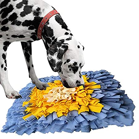 IEUUMLER Schnüffelteppich Hund Riechen Trainieren Schnüffeldecke Futtermatte Trainingsmatte für Haustier Hunde Katzen IE075