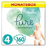 Pampers Pure Protection, Gr.4 Maxi 9-14 kg, Monatsbox (1 x 160 Stück), mit Premium-Baumwolle