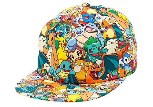 Image of BIOWORLD Pokemon All Over Print Sublimated Snapback Cap Hat
