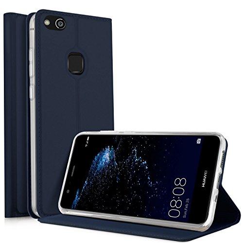 Huawei P10 Lite Flip Cover iBetter Huawei P10 Lite Super Slim Perfect Fit Premium Hard Protettiva Custodia per Huawei P10 Lite-Blu