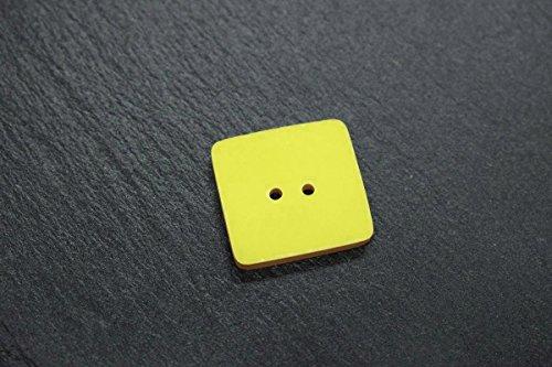 Keramik-Designer-Knopf in leucht-grün 24x24mm als Zubehör zum Stricken Nähen Basteln Handarbeit -