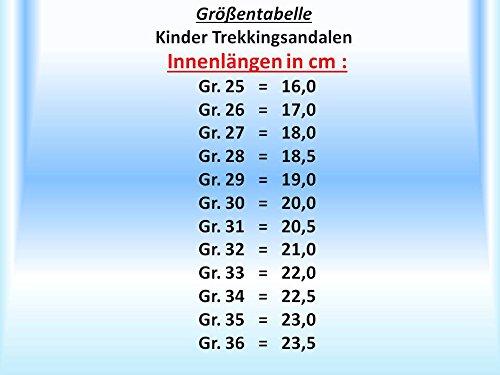 GIBRA® Trekking San Dalen pour enfants, avec fermeture velcro Gris/Turquoise Taille 25–36 Gris - Grau/Türkis