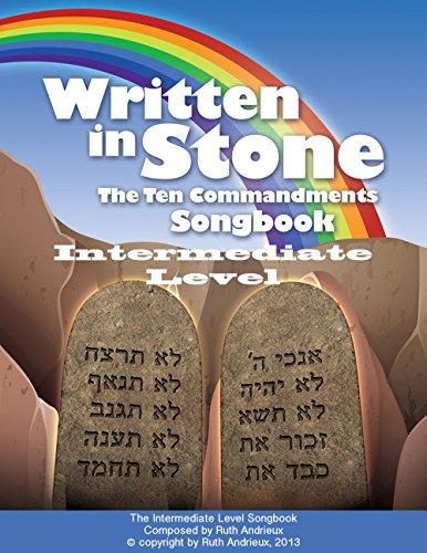 Written in Stone, The Ten Commandments: Intermediate Level Piano Songbook (English Edition)