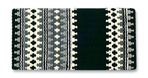Mayatex Westernpad Catalina Sattel Decke, 1451-1, Black/Cream/Charcoal/Ash, 38 x 34 Inches (Sattel-pads Und Decken)