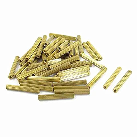 Move&Moving(TM) 50 Pcs M2 Female Thread Cylindrical Brass Stand-off Support M2x22mm