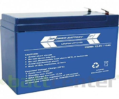 RPower LiFePO4 Lithium-Akku: 12V 15Ah - 15 Volt Ah 12 Akku