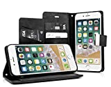 MyGadget Flip Case PU Cuir Support pour Apple iPhone 6 / 6s Coque Fermeture magnétique - Portefeuille Ultra Fin & Léger - Housse Anti Choc Noir