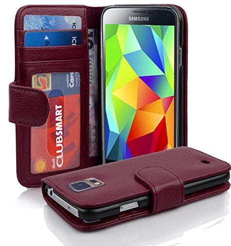 Cadorabo Hülle für Samsung Galaxy S5 / S5 NEO in Bordeaux Lila