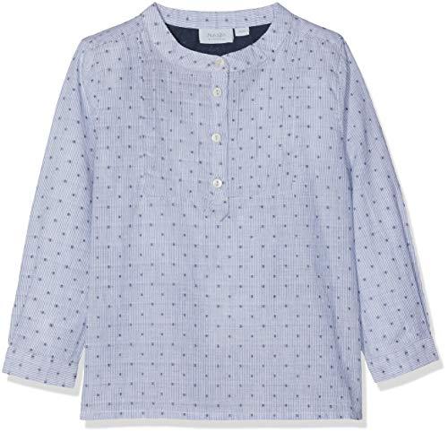 Noa Noa miniature Baby - Jungen Boy Artisan Langarmshirt,per Pack Blau (Dress Blue 315),(Herstellergröße:9M) - Herren-shirts, Gewebten Hemden