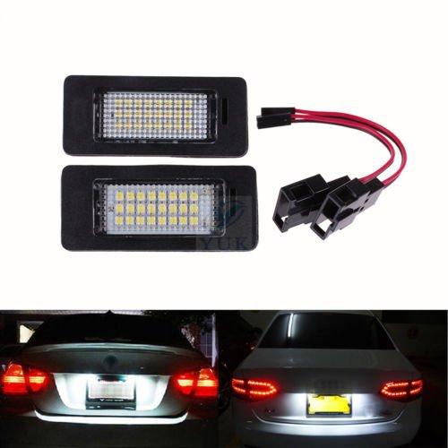 Yuk 2 x Lizenz Nummernschild LED Licht Lampe für A4 B8 A5 Q5 Passat S5 Fehlerfrei