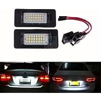 Yuk 2 x número de licencia Plate lámpara de luz LED para A4 B8 A5 Q5 Passat S5 libre de errores