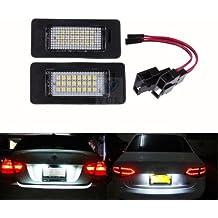 Yuk 2x número de licencia Plate lámpara de luz LED para Audi A4B8A5Q5Passat S5libre de errores