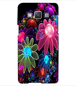 ColourCraft Digital Flowers Design Back Case Cover for SAMSUNG GALAXY A5 A500F