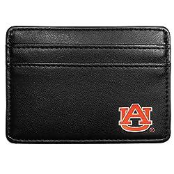 NCAA Auburn Tigers Leather Weekend Wallet, Black
