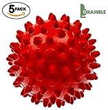 Bramble - 5 x Nicht schmelzende – wieder verwendbare Wäsche Trocknerbälle - Grün / Rot (Rot)