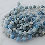 Alta qualità celestite naturale grado A (blu) semi-preziose pietre tonde perline–6mm (65–68)