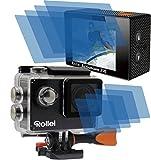 8x Crystal clear klar (4 Folien pro Display) Schutzfolie für Rollei Actioncam Action Cam 350 Premium Displayschutzfolie Bildschirmschutzfolie Schutzhülle Displayschutz Displayfolie Folie
