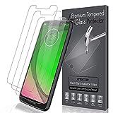 LK Verre Trempé pour Motorola Moto G7 Play [Lot de 3], Anti Rayures Film Protection écran [Haute Définition - sans Bulles][Facile à Kit d'installation] Transparent Film de Protection d'écran