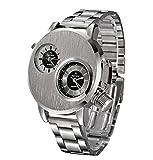 ZEZKT Mode Herren-Armbanduhr | Uhren für Herren | Männer Elegant Dekoration Geschenk Quarzwerk | Klassisch Römische Ziffern Quarzuhr Analog | Metallzugarmband Stoppuhr