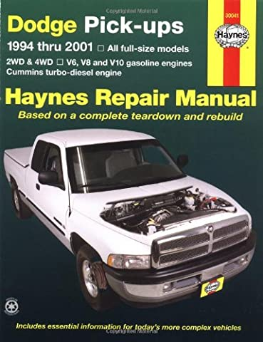 Dodge Pick-ups Automotive Repair Manual: 1994-2001 (Haynes Automotive Repair Manuals)