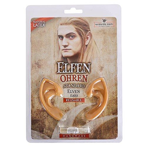 Kostüm Zubehör: Elfenohren aus Latex inkl Kleber / Fasching Ohr Verkleidung Elf (Saruman Kostüm)