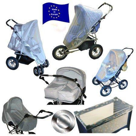 Mückennetz Universal 7 in 1 weiß für Reisebett, Kinderwagen und Zwillingskinderwagen