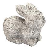 Deko-Figur Hase Mümmler weiß-grau