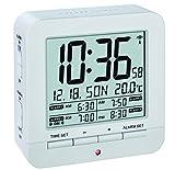 TFA Dostmann 60.2536 digitaler Funk-Wecker mit 4 Weckzeiten (Weiß mit Batterien)