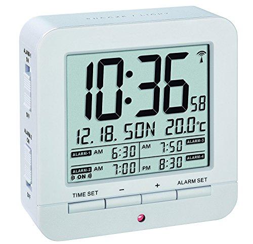 TFA Dostmann 60.2536 radio despertador digital 4 tiempos