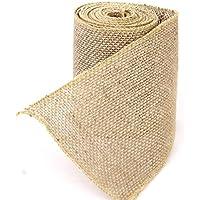 1rollo de cinta de arpillera de yute Fendii para boda o decoración del hogar/manualidades, accesorios de 3m x 10cm