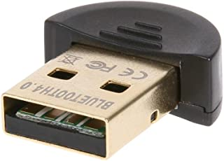 FARRAIGE Gold Plated CSR 4.0 USB Dongle Bluetooth Adapter Receiver for Laptop PC Computer Support Windows 10 8 7 Vista XP 32/64 Bit