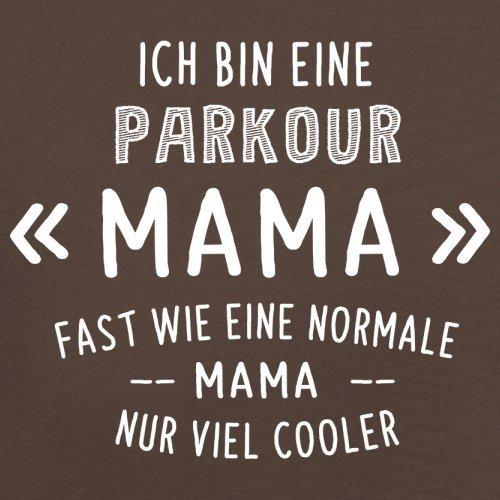 Ich bin eine Parkour Mama - Herren T-Shirt - 13 Farben Schokobraun